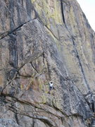 Rock Climbing Photo: S. Giffin climbs through fantastic dishes and edge...