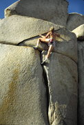 Rock Climbing Photo: The Z Crack at Easter Island. Photo by Dave Vaugha...