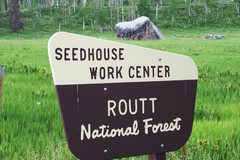 Rock Climbing Photo: Seedhouse Boulder is obvious from the Seedhouse Ca...