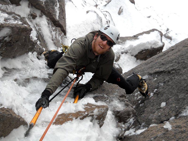 Mixed climbing on the backside of Illumination Rock, Mt Hood, OR