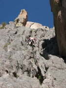 Rock Climbing Photo: Me leading p1 of Organ Pipes.