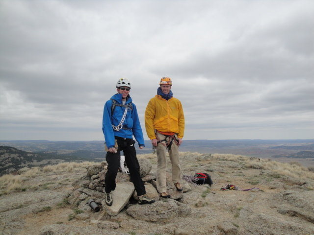 Summit of Devils Tower, April 2010. So coldddd