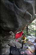 Rock Climbing Photo: Marc Roth climbing Year of the Cockroach. Miramont...