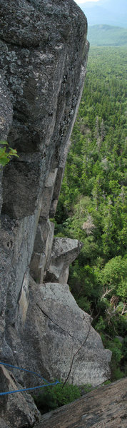 Rock Climbing Photo: Showing the steepness of the second pitch of the t...