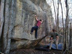 Rock Climbing Photo: bouldering at Bradbury Mountain