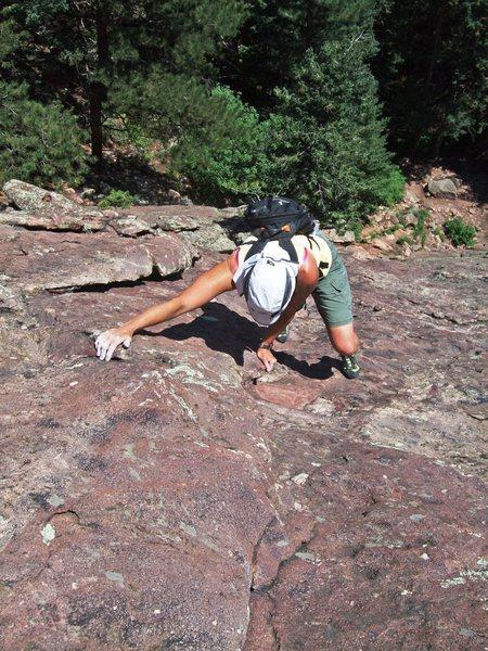 Rock Climbing Photo: Still towards the start - just cruising up
