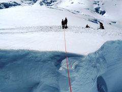 "Rock Climbing Photo: My look across the ""practice crevasse"" -..."