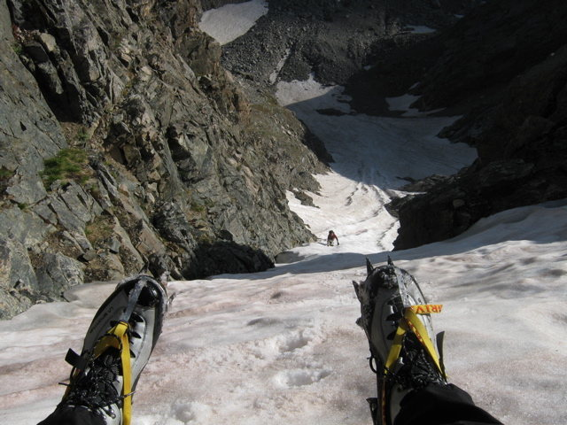 Rock Climbing Photo: Sitting at the top of Taylor Glacier waiting for C...