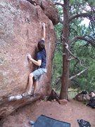 Rock Climbing Photo: BC having fun.