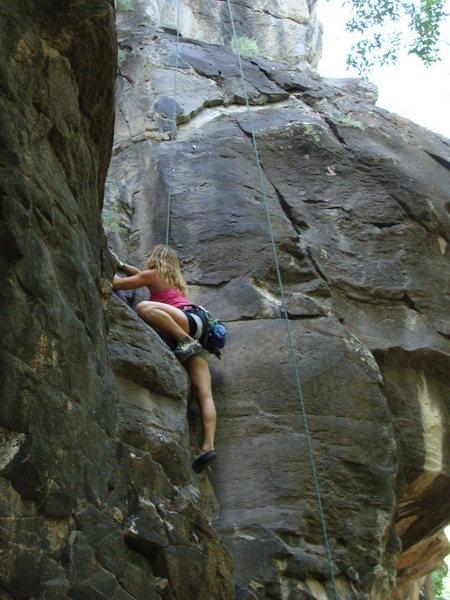 Rock Climbing Photo: Lagoon 5.10b