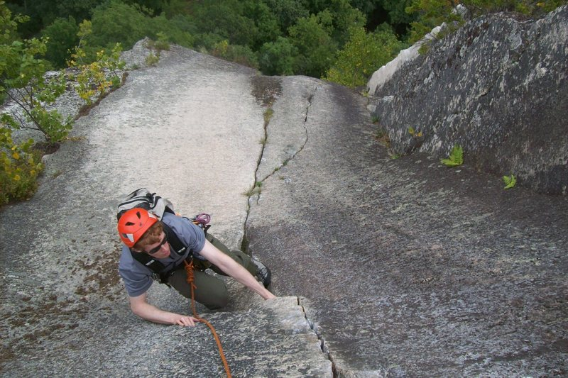 can't remember the name, but it was a fun climb after a right traverse from fun house cathedral ledge