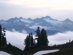 Rock Climbing Photo: Twin sisters, seen from MT Baker, North Cascades