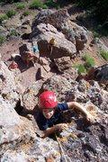 Rock Climbing Photo: 5th Class section of Rabbit Ears summit hike.