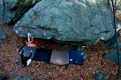 Rock Climbing Photo: Dave J. on the mega classic traverse.