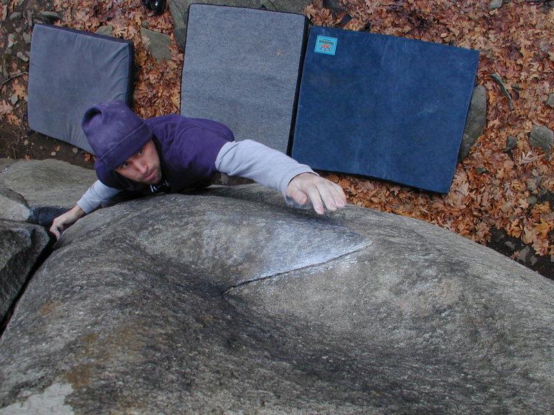 Rock Climbing Photo: Reaching for the razor!