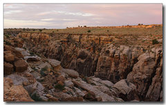 Rock Climbing Photo: Morning at canyon rim, as viewed from the camping ...