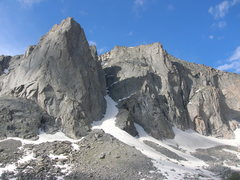 Rock Climbing Photo: Warrior I snow conditions July 22