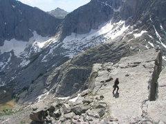 Rock Climbing Photo: Cirque Lake snow conditions July 22