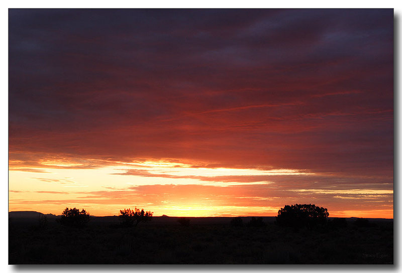 Rock Climbing Photo: Summer monsoon sunset as viewed from the camping a...