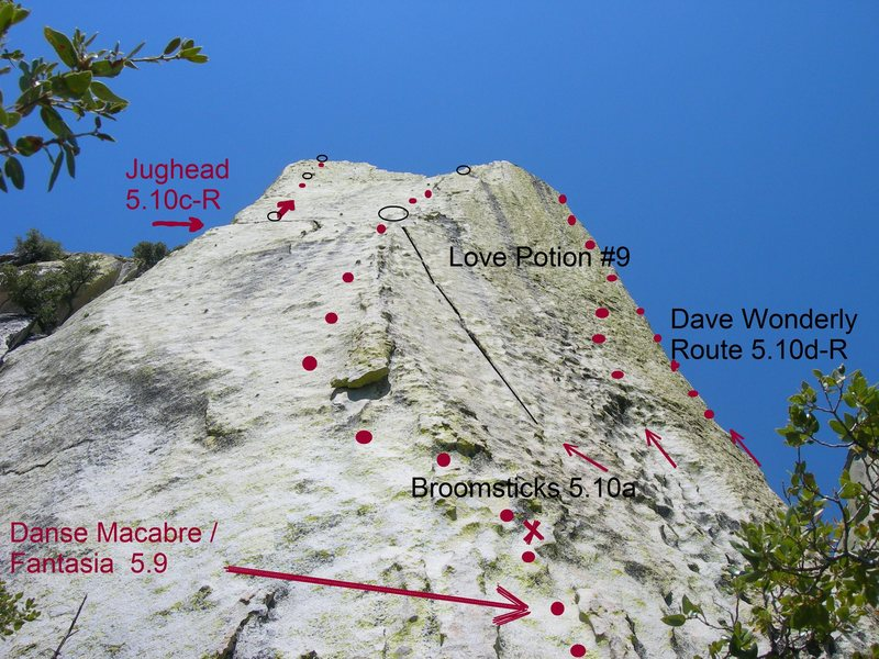 Rock Climbing Photo: General Location of Climbs