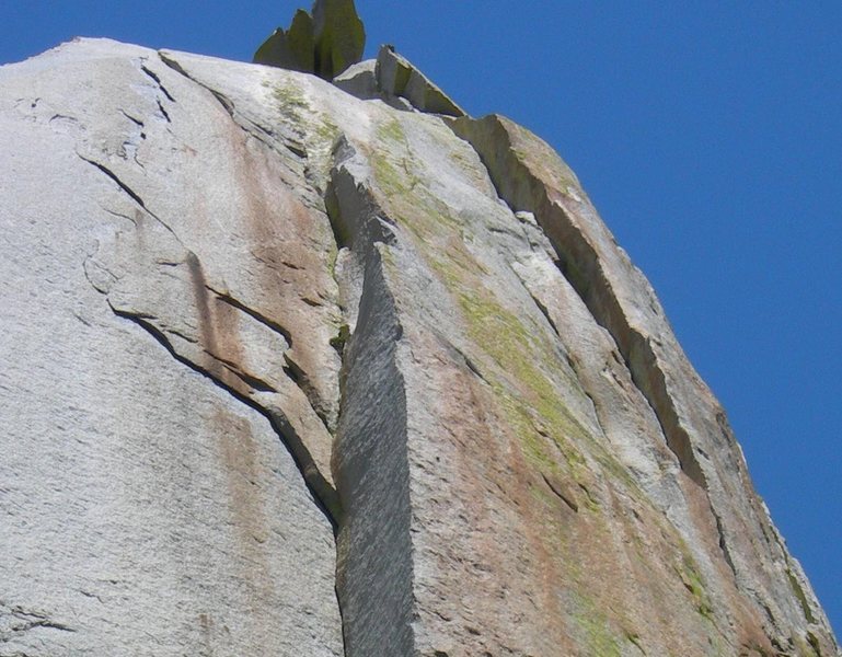 Rock Climbing Photo: Upper dihedral details