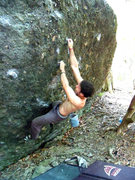 "Rock Climbing Photo: Aaron Parlier on ""Cut Throat"" (v4)"