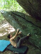 "Rock Climbing Photo: Aaron Parlier on ""Starting Line"" (v0+)"