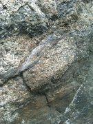 Rock Climbing Photo: Side pull (left hand start)
