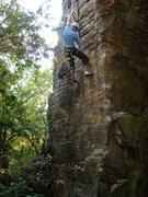 Rock Climbing Photo: Working Secret Agent Man, October 2008, photo Trav...