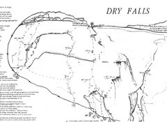 Rock Climbing Photo: Dry Falls Topo  A. Flying Sheep (5.10c/d) B. Ape F...