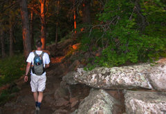 Rock Climbing Photo: Hiking up the Royal Arch trail a couple minutes be...