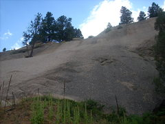 Rock Climbing Photo: I started on the slab on the left edge of the pict...