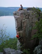 Rock Climbing Photo: Doing a lap on this uber classic on a very humid J...