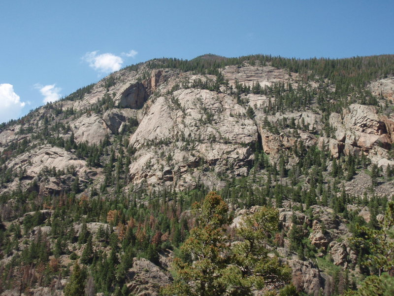 Rock Climbing Photo: From the Cub Lake to The Pool trail.