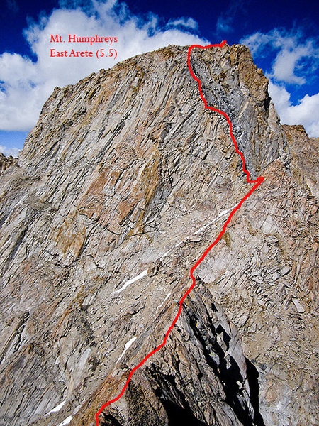 This shows the final section of the ridge. Lots of arete climbing prior to this.
