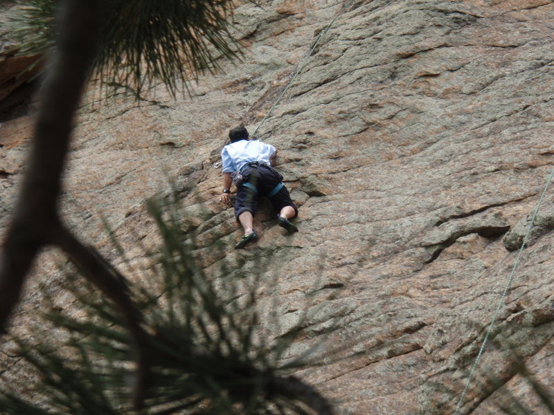 Rock Climbing Photo: Bruce Lee, 55, making quick work of his first rock...