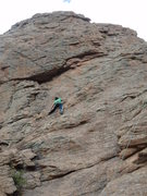 Rock Climbing Photo: Ann Lee climbing her first rock climb.  Thanks for...