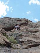 Rock Climbing Photo: Lucy Paik, 72, climbing around the crux on her fir...
