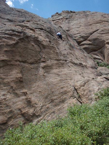 Rock Climbing Photo: Bruce Lee, former marine, on his 2nd rock climb ev...