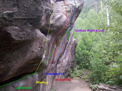 Rock Climbing Photo: South side of Stein.