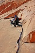 Rock Climbing Photo: Jeremy Freeman grabbin' his nuts on 'Flakes of Wra...