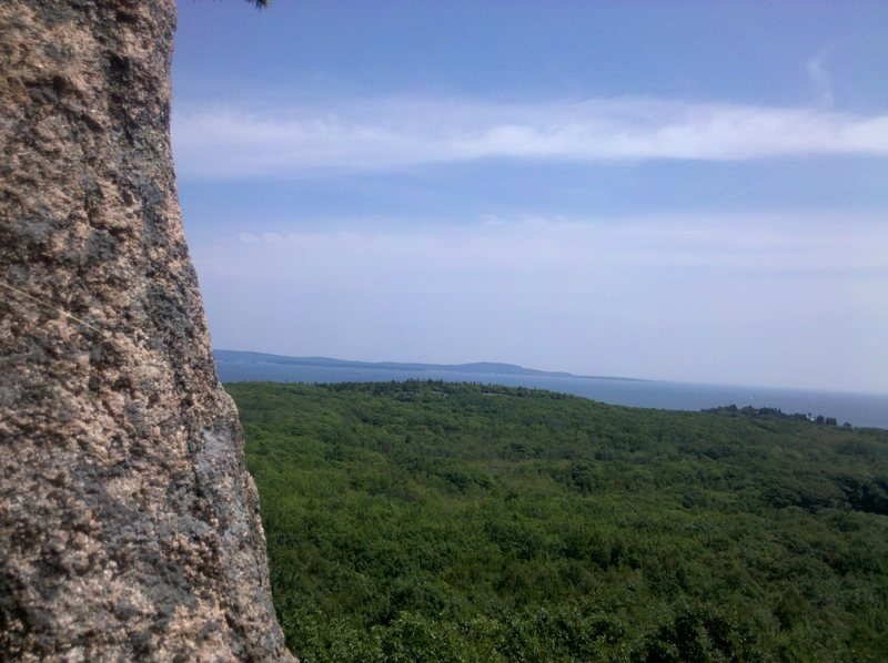 Rock Climbing Photo: The view mid way through this climb makes it worth...
