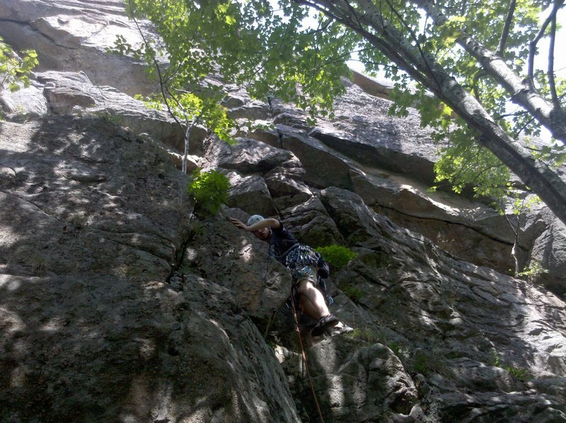 Rock Climbing Photo: Me at the start of Ramp Traverse in Acadia showin'...