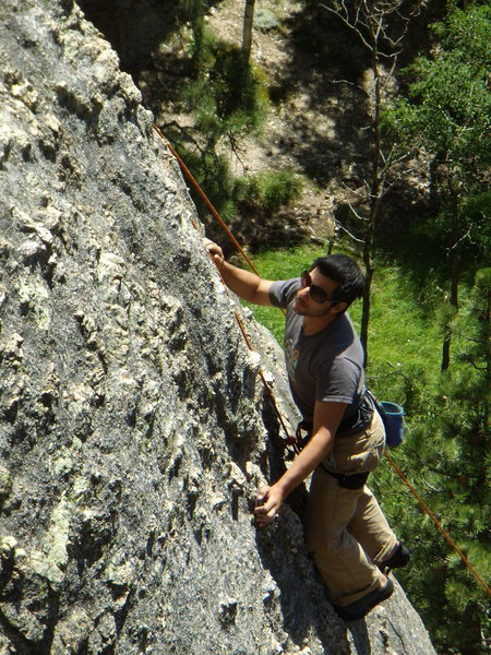 Rock Climbing Photo: Steve D. on some climb (Kate's climb?) 5.8 ish beh...