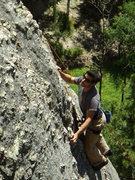 Rock Climbing Photo: Steve D. on some climb (Kate's climb?) 5.8 ish beh...