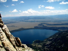 Rock Climbing Photo: View of Jenny Lake from Symmetry Spire.  July 29th...