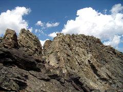 Rock Climbing Photo: Final ridge to the summit of Symmetry Spire.  Teto...