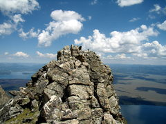 Rock Climbing Photo: The summit of Symmetry Spire.  Teton NP.  July 29t...