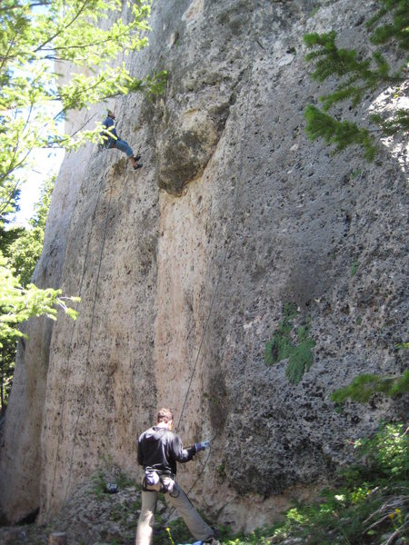 Rock Climbing Photo: Hanging our heads low in disgust after climbing sn...