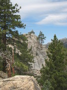 Rock Climbing Photo: The east face of Castle Rock Slab from the vicinit...